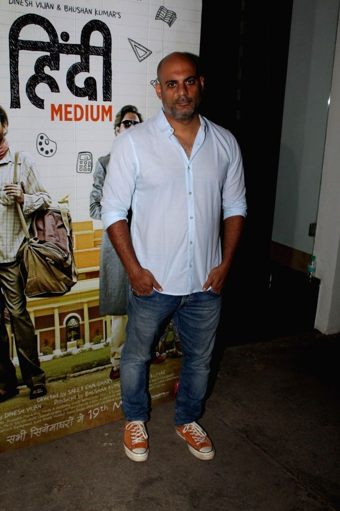 Filmmaker Saket Chaudhary during the screening of the film Hindi Medium in Mumbai on May 16, 2017. - Saket Chaudhary