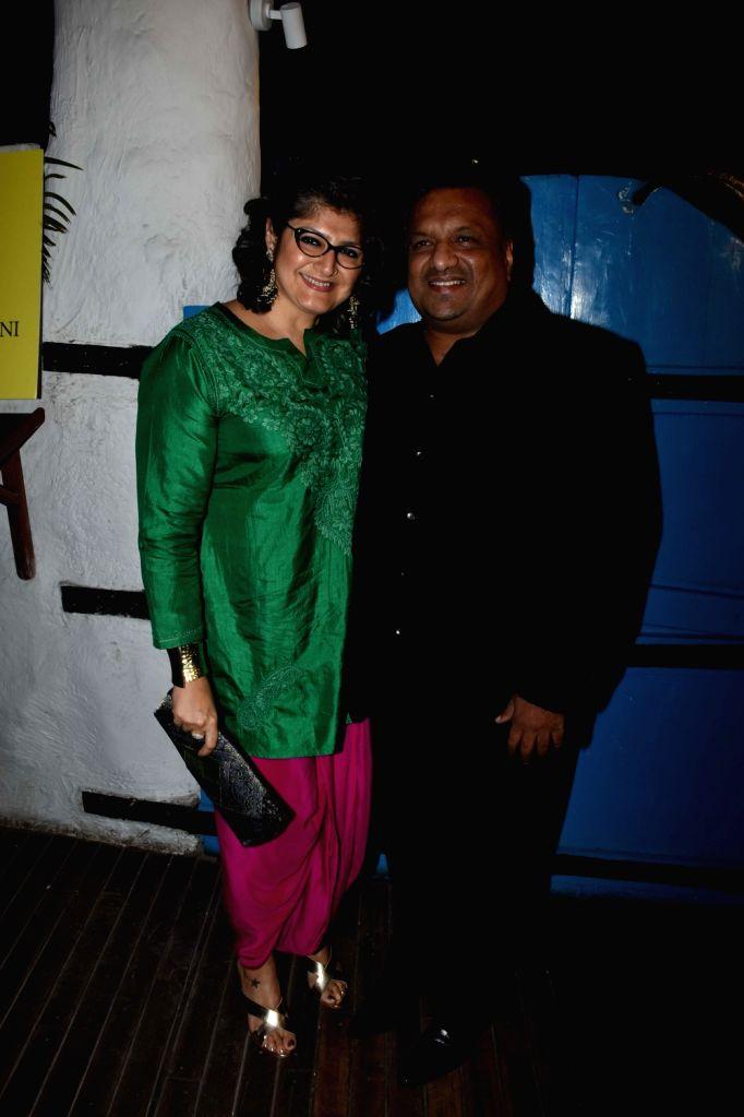Filmmaker Sanjay Gupta with his wife Anu Lekhi at the launch of photographer Dabboo Ratnani's calendar in Mumbai, on Jan 28, 2019. - Sanjay Gupta