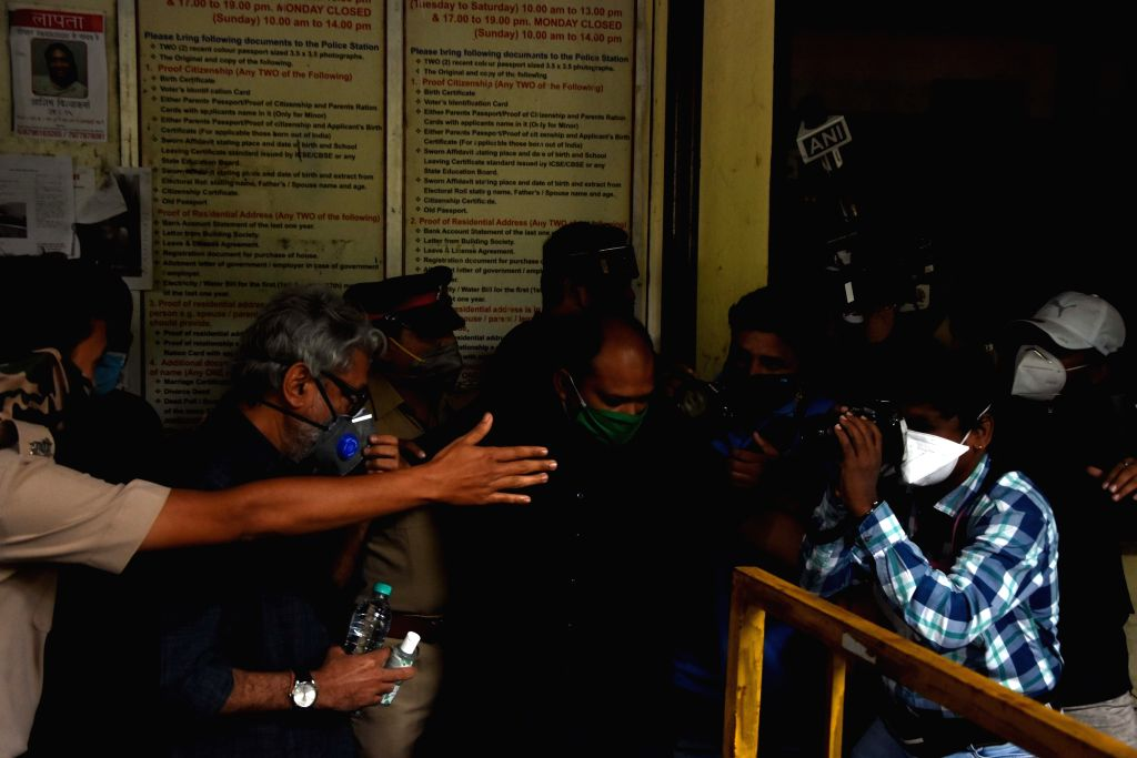 Filmmaker Sanjay Leela Bhansali arrives at the Bandra Police Station to record his statement in connection with actor Sushant Singh Rajput's death, in Mumbai on July 6, 2020. As per reports, ... - Sanjay Leela Bhansali, Sushant Singh Rajpu, Ranveer Singh and Deepika Padukone
