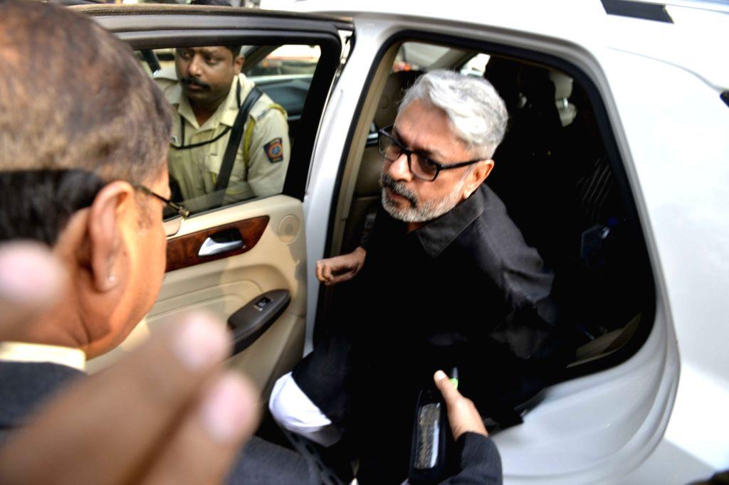 "Filmmaker Sanjay Leela Bhansali arrives to meet a parliamentary panel regarding the release of his controversial film ""Padmavati"" on Nov 30, 2017. - Sanjay Leela Bhansali"