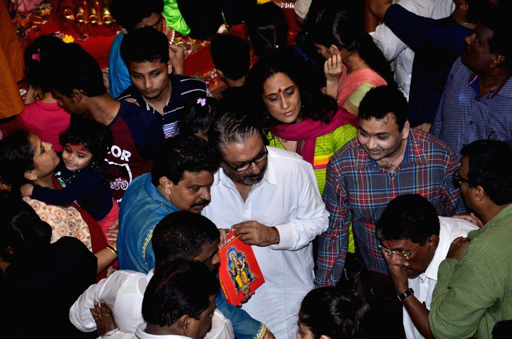 Filmmaker Sanjay Leela Bhansali at the Lalbaucha Raja Ganesh mandal, in Mumbai, on Sept. 6, 2014. The ten day-long Ganesh festival of the Hindu Elephant-headed god Ganesh, will end on September 8 ... - Sanjay Leela Bhansali