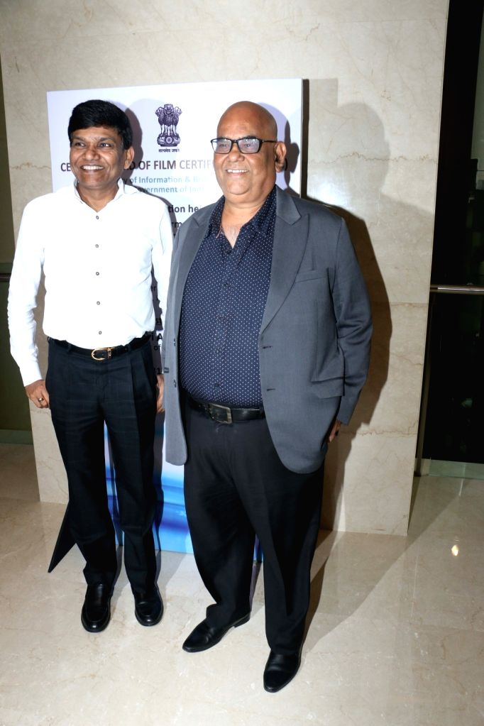 Filmmaker Satish Kaushik during the launch of the new logo and certificate design of Central Board of Film Certification (CBFC) in Mumbai on Sept 1, 2019. - Satish Kaushik