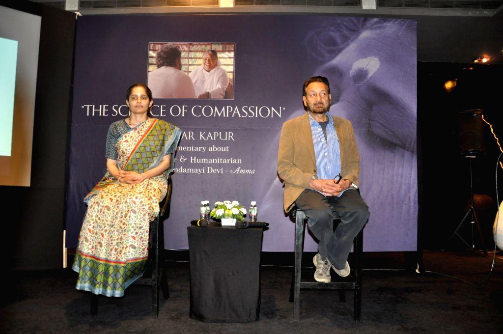Filmmaker Shekhar Kapur speaks about his documentary on Mata Amritanandamayi who is popularly known as the `Hugging Amma`, in Mumbai, on May 27, 2016. - Shekhar Kapur