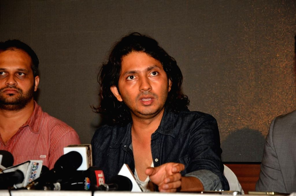 Filmmaker Shirish Kundere during the press conference regarding the plagiarism row over short film Kriti, in Mumbai, on July 1, 2016. - Shirish Kundere