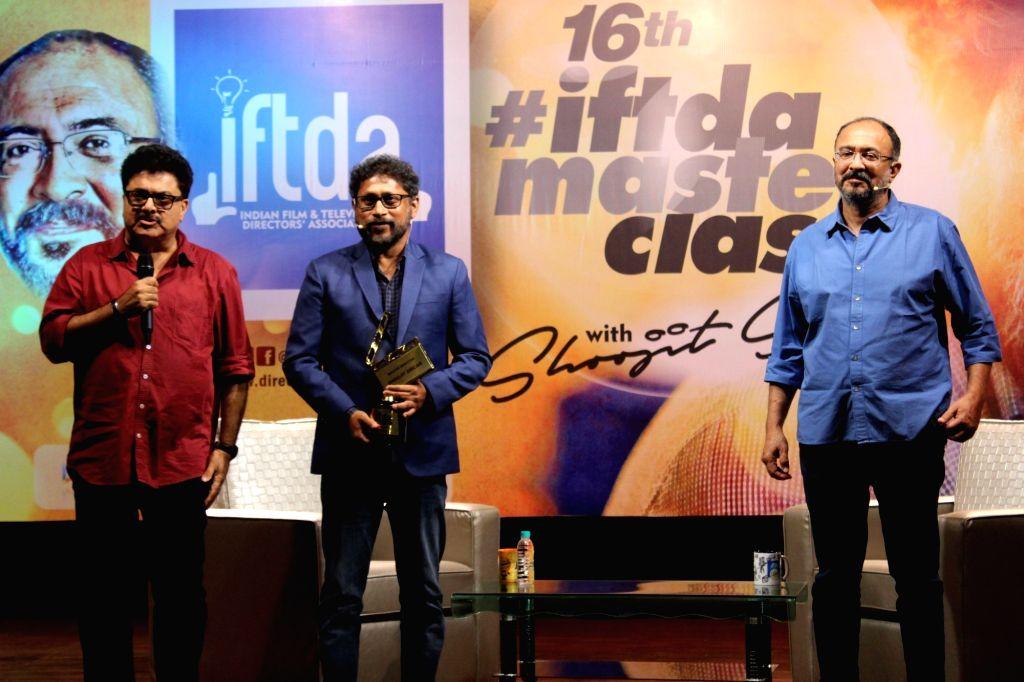 Filmmaker Shoojit Sircar and screenwriter Anjum Rajabali at a master class organised by Indian Film and Television Directors' Association (IFTDA), in Mumbai on May 19, 2018. - Shoojit Sircar