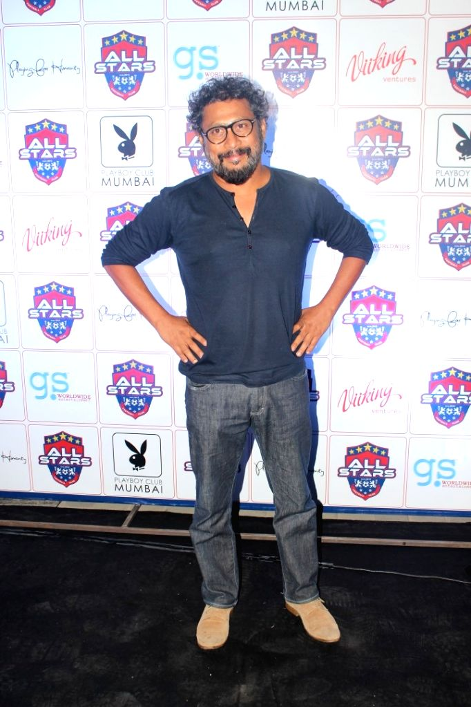 Filmmaker Shoojit Sircar during the celebrity football initiative `Playing for Humanity`in Mumbai on May 27, 2017. - Shoojit Sircar