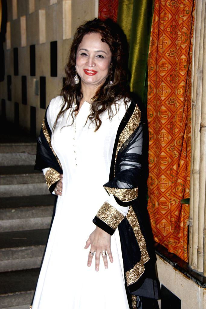 Filmmaker Smita Thackeray during her birthday party of in Mumbai on August 17,2015.