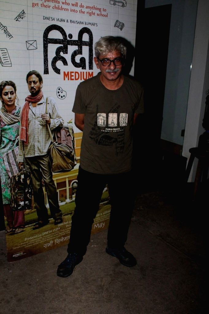 Filmmaker Sriram Raghavan during the screening of the film Hindi Medium in Mumbai on May 16, 2017. - Sriram Raghavan