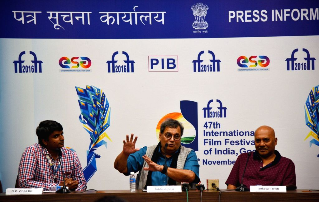 Filmmaker Subhash Ghai at a press conference, during the 47th International Film Festival of India (IFFI-2016), in Panaji, Goa on Nov 27, 2016. - Subhash Ghai