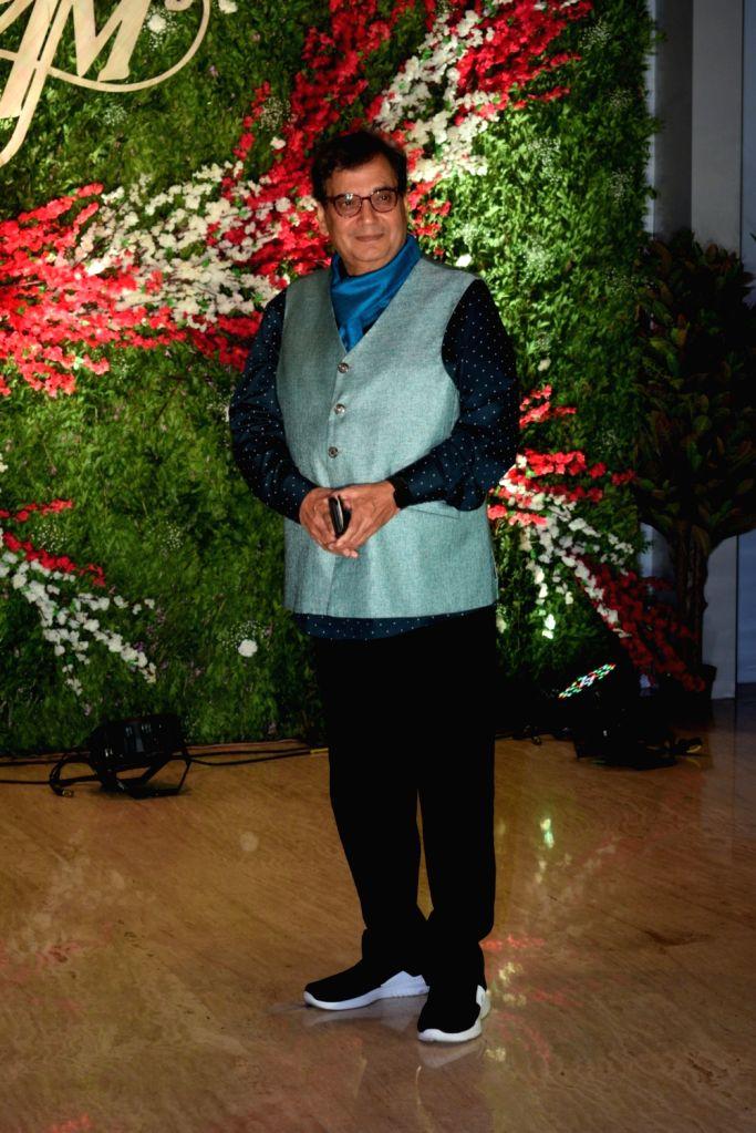 Filmmaker Subhash Ghai at the wedding reception of producer Jayantilal Gada's son Aksshay Gada in Mumbai, on March 31, 2019. - Subhash Ghai