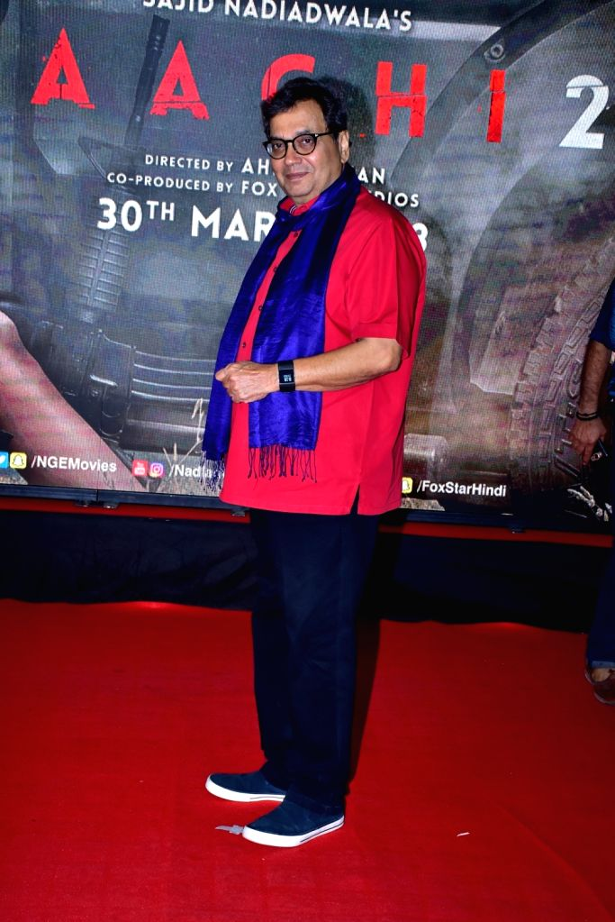 "Filmmaker Subhash Ghai during the special screening of film ""Baaghi 2"" on March 29, 2018. - Subhash Ghai"
