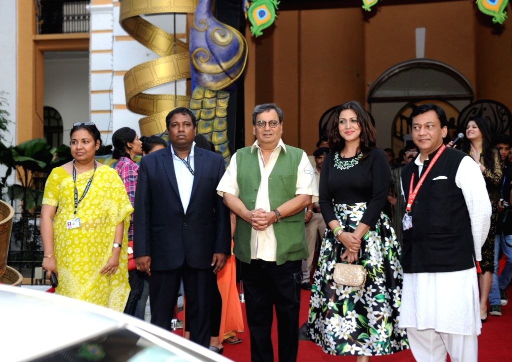 Filmmaker Subhash Ghai on Red Carpet during a press conference at the 46th International Film Festival of India (IFFI-2015), in Panaji, Goa on Nov. 24, 2015.