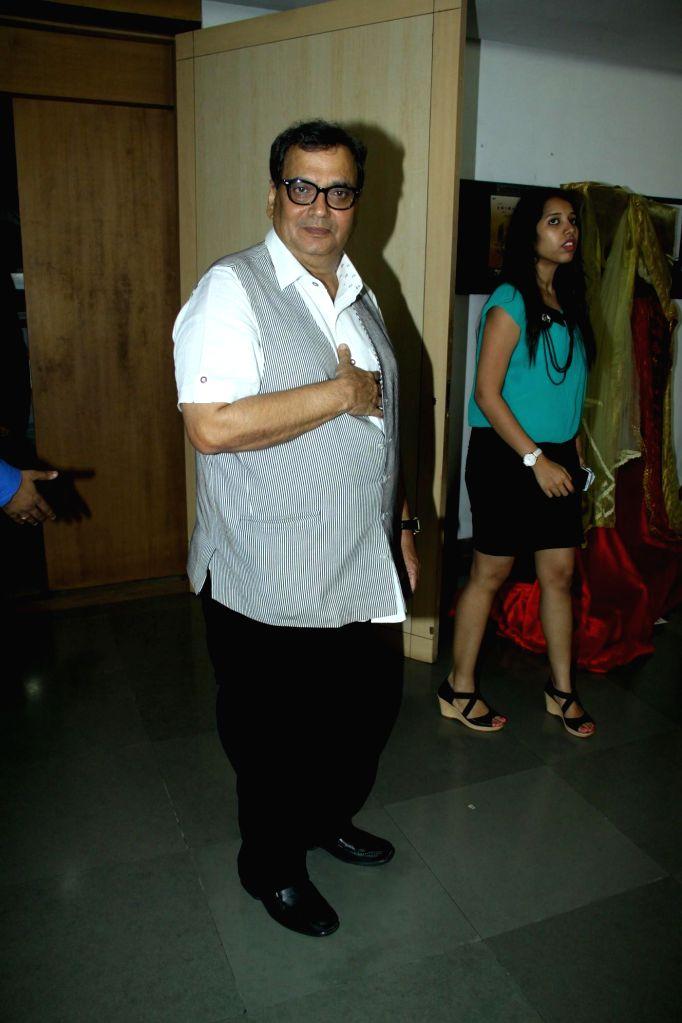 Filmmaker Subhash Ghaiduring the inauguration of `Celebrate Cinema` festival organised by Whistling Woods International in Mumbai on May 17, 2014. - Subhash Ghaiduring