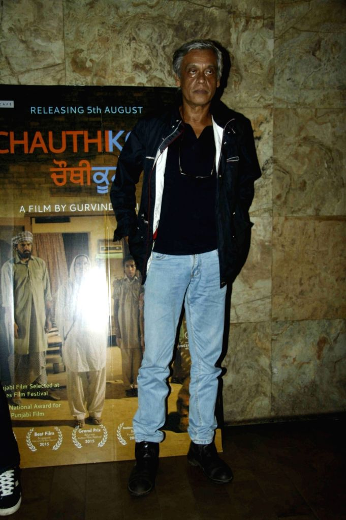 Filmmaker Sudhir Mishra during the special screening of Punjabi film Chauthi Koot in Mumbai on Aug 1, 2016. - Sudhir Mishra