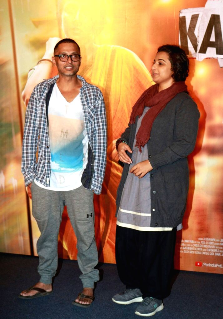 Filmmaker Sujoy Ghosh and actress Vidya Balan during the trailer launch of film Kahaani 2 on Oct 25, 2016. - Sujoy Ghosh and Vidya Balan
