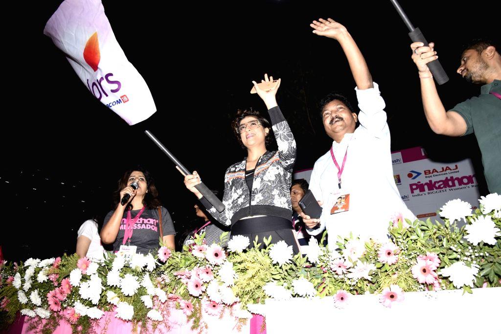 filmmaker Tahira Kashyap flag off Pinkathon, in Mumbai on Dec 15, 2019. - Tahira Kashyap