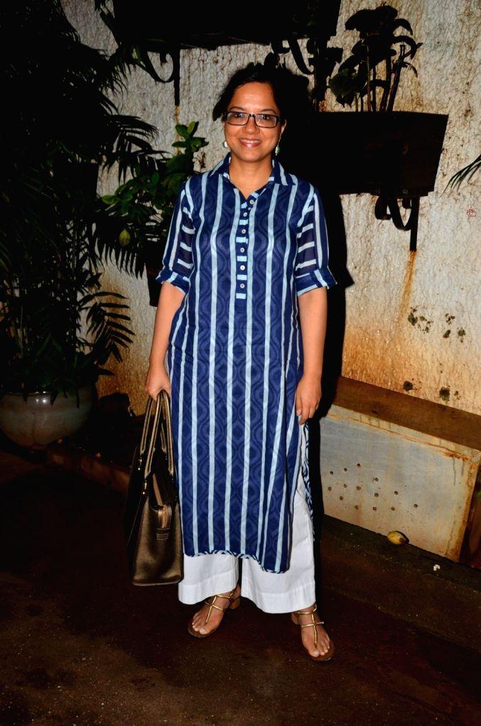 Filmmaker Tanuja Chandra during the special screening of the film Madaari, in Mumbai on July 19, 2016. - Tanuja Chandra
