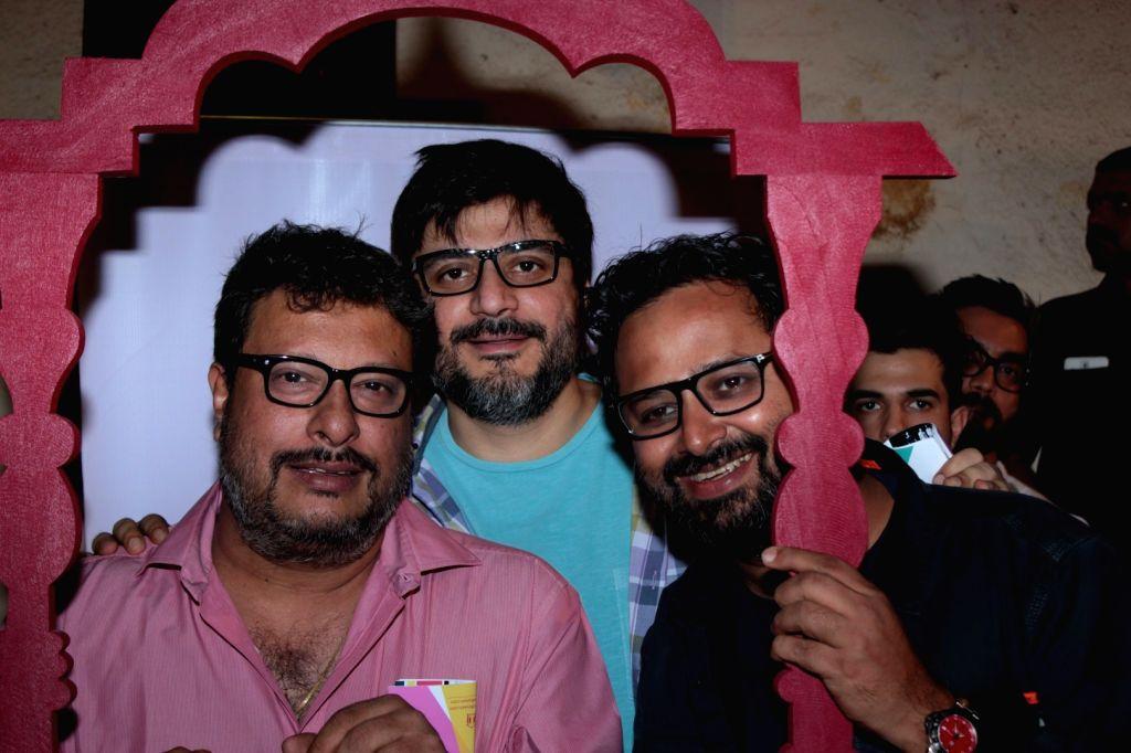 Filmmaker Tigmanshu Dhulia and Goldie Behl during the Khidkiyaan Theatre Festival in Mumbai on January 17, 2016. - Tigmanshu Dhulia