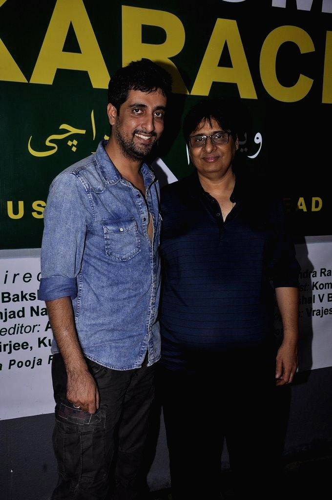Filmmaker Vashu Bhagnani and Ashish R Mohan during the muhurat of film Welcome to Karachi in Mumbai, on Sept. 5, 2014. - Vashu Bhagnani