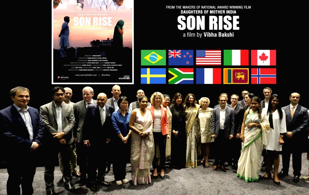 Filmmaker Vibha Bakshi with the Consul Generals of Brazil, USA, Italy, Canada, Norway, Sweden, South Africa, France, New Zealand and Sri Lanka; UN Women Deputy Representative (office for ... - Vibha Bakshi