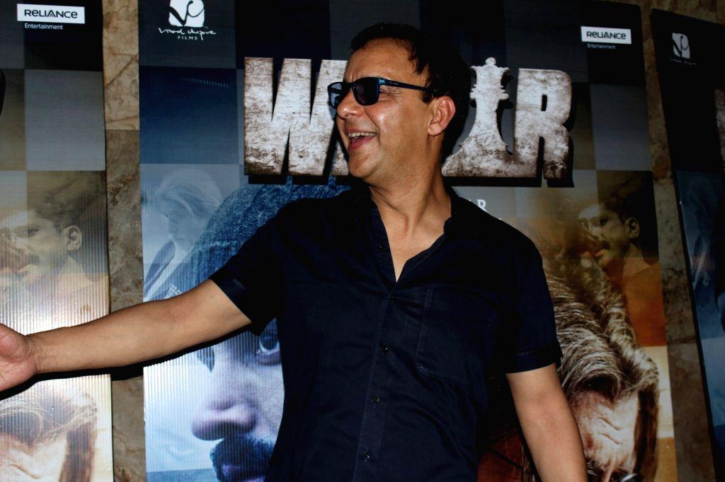 Filmmaker Vidhu Vinod arrives to watch the first song Tere Bin from film Wazir in Mumbai on Dec 4, 2015. - Vidhu Vinod