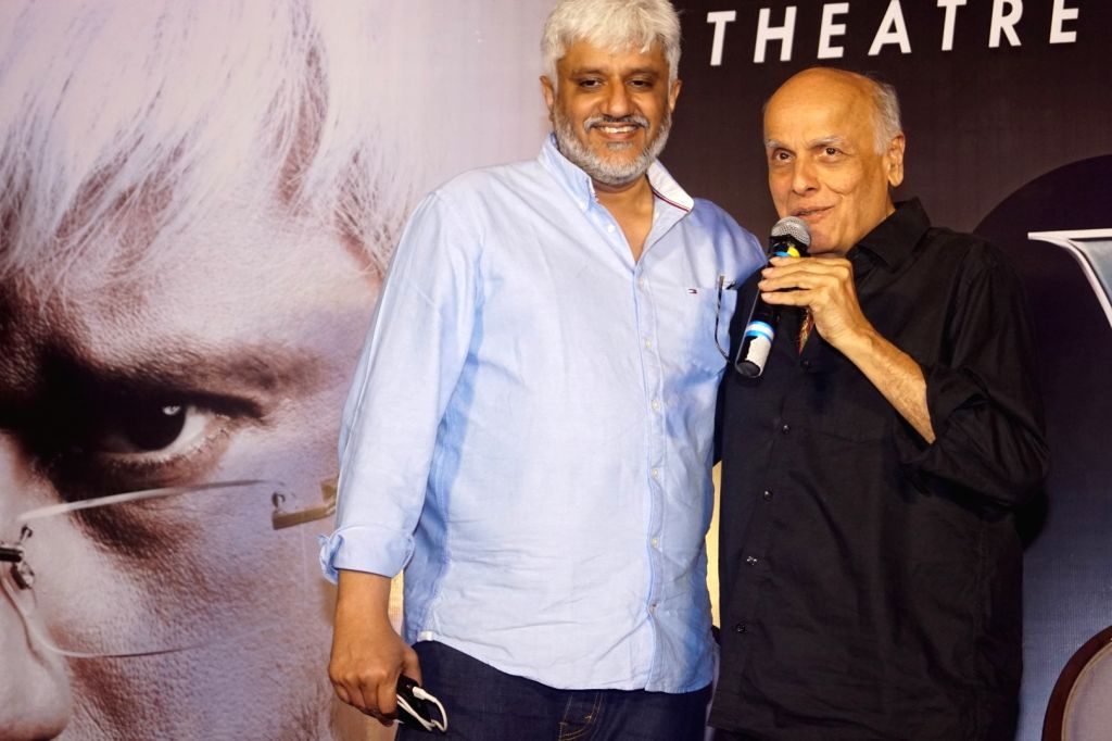 Filmmaker Vikram Bhatt with Mahesh Bhatt during the launch of his OTT platform VB Theatre on the Web; in Mumbai on Feb 14, 2018. - Vikram Bhatt