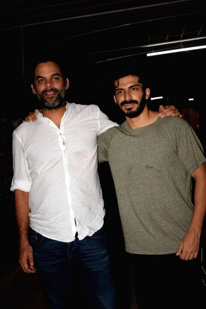 "Filmmaker Vikramaditya Motwane and actor Harshvardhan Kapoor arrive at the screening of the film ""Bhavesh Joshi Superhero"" in Mumbai on May 31, 2018. - Vikramaditya Motwane, Harshvardhan Kapoor and Bhavesh Joshi Superhero"