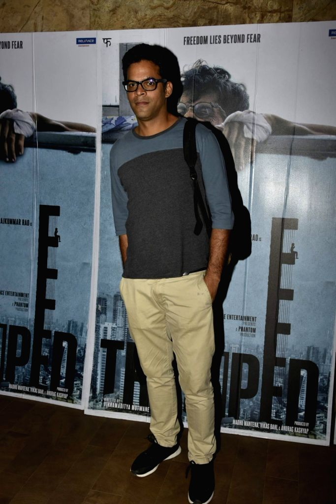 Filmmaker Vikramaditya Motwane during the screening of film ''Trapped'' in Mumbai on March 10, 2017. - Vikramaditya Motwane