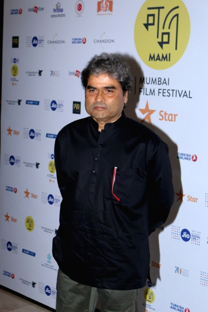 Filmmaker Vishal Bharadwaj arrives to attend in conversation with publisher and editor Arpita Das (not in picture) at the Jio MAMI 18th Mumbai Film Festival, in Mumbai, on Oct 26, 2016. - Vishal Bharadwaj
