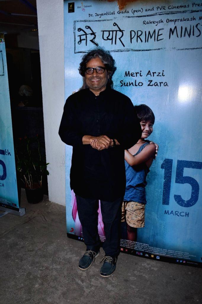 "Filmmaker Vishal Bharadwaj at the screening of an upcoming film ""Mere Pyare Prime Minister"" in Mumbai, on March 14, 2019. - Vishal Bharadwaj"