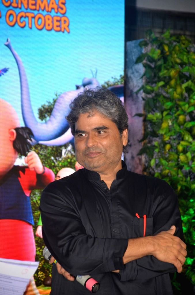 "Filmmaker Vishal Bharadwaj during the music launch of upcoming animated film ""Motu Patlu- King of King"" in Mumbai on Oct 4, 2016. - Vishal Bharadwaj"