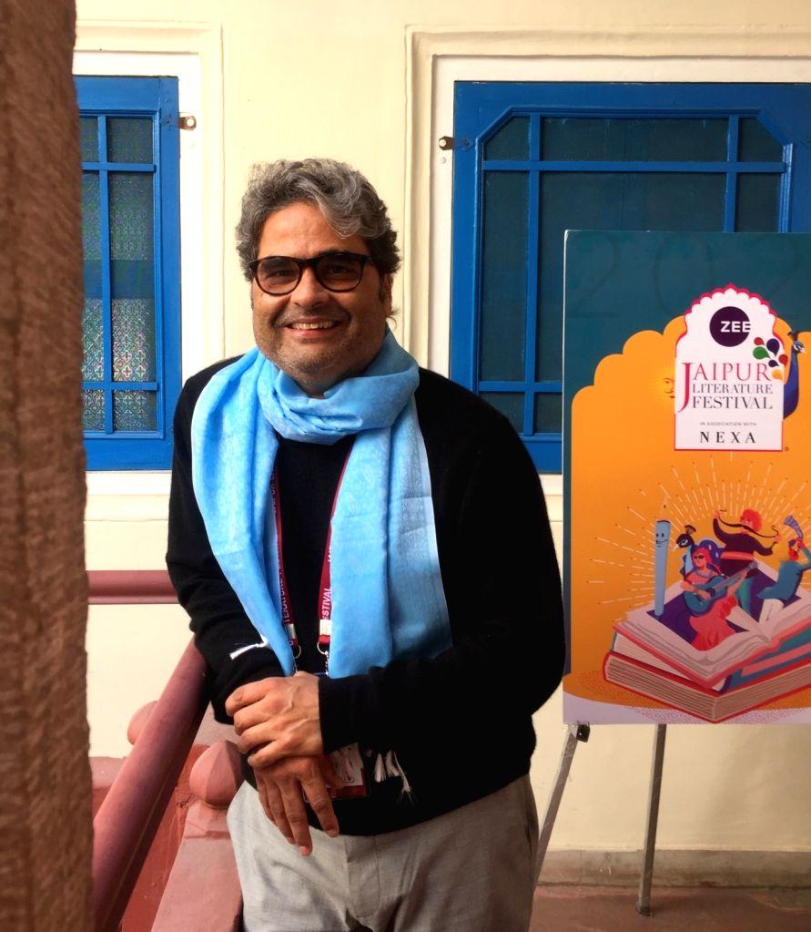 Filmmaker Vishal Bhardwaj at the ZEE Jaipur Literature Festival 2020 on Jan 26, 2020. - Vishal Bhardwaj