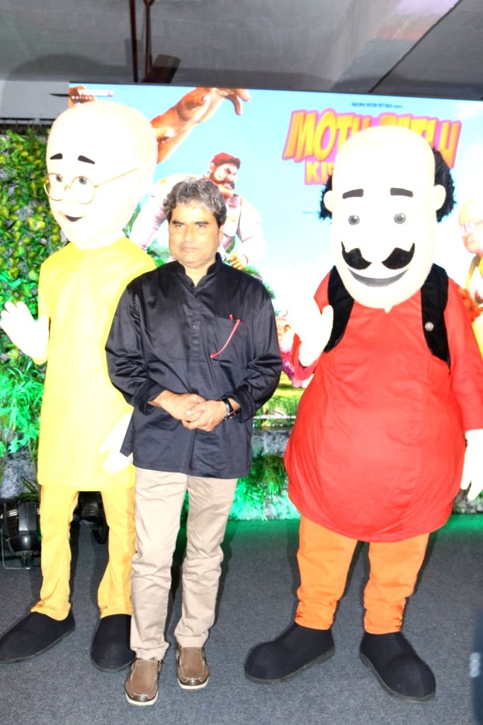 Filmmaker Vishal Bhardwaj during the music launch of 3D animation film Motu Patlu King Of Kings, in Mumbai, on Oct 4, 2016. - Vishal Bhardwaj