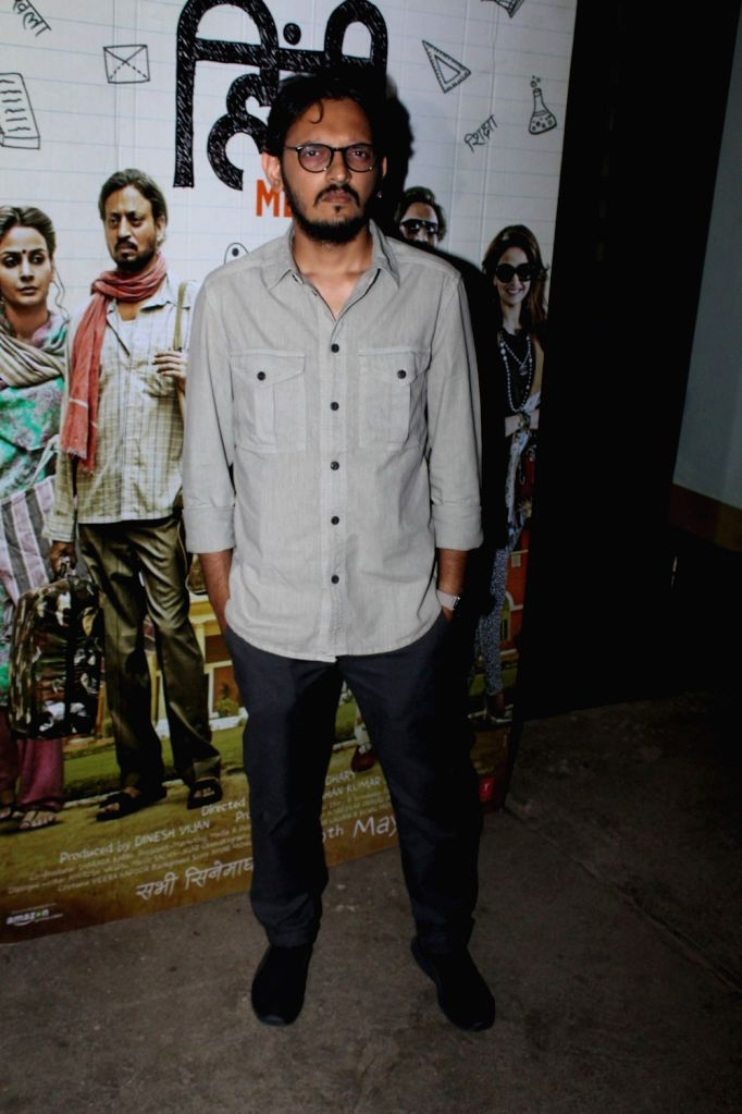 Filmmaker Vishesh Bhatt during the screening of the film Hindi Medium in Mumbai on May 16, 2017. - Vishesh Bhatt
