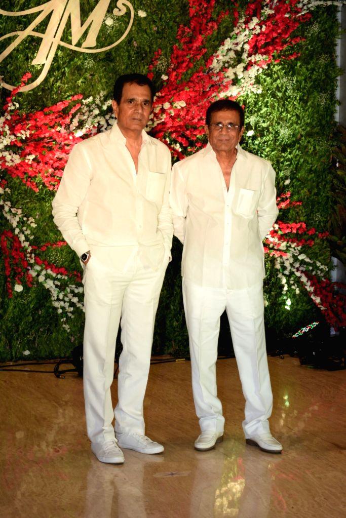 Filmmakers Abbas and Mastan Burmawalla at the wedding reception of producer Jayantilal Gada's son Aksshay Gada in Mumbai, on March 31, 2019. - Abbas and Mastan Burmawalla