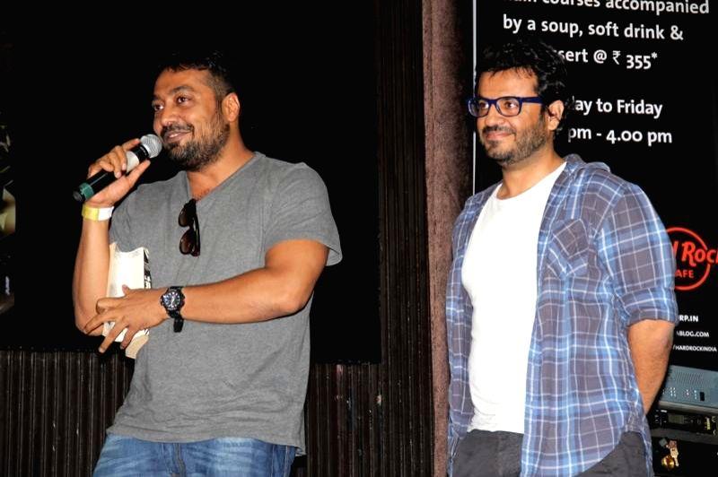 Filmmakers Anurag Kashyup and Vikal Bahl during the music launch of film Katiyabaaz in Mumbai on Aug 11, 2014. - Anurag Kashyup and Vikal Bahl