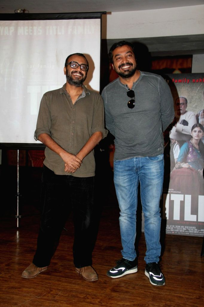 Filmmakers Dibakar Banerjee and Anurag Kashyap during a meet and greet session of film Titli in Mumbai on Oct 16, 2015. - Dibakar Banerjee and Anurag Kashyap