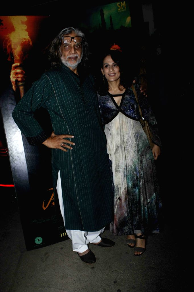 Filmmakers Muzaffar Ali and Meera Ali during the screening of film Jaanisaar in Mumbai, on August 6, 2015. - Muzaffar Ali and Meera Ali