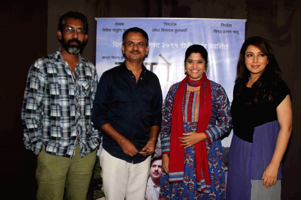 Filmmakers Nagraj Manjule, Girish Kulkarni, Tisca Chopra and Renuka Shahane during the media interaction of Marathi film Highway, in Mumbai, on August 6, 2015. - Nagraj Manjule, Girish Kulkarni, Tisca Chopra and Renuka Shahane