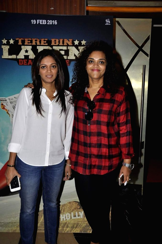Filmmakers Pooja Shetty-Deora and Aarti Shetty during the trailer launch of film Tere Bin Laden : Dead or Alive in Mumbai on Jan. 19, 2016. - Pooja Shetty-Deora and Aarti Shetty