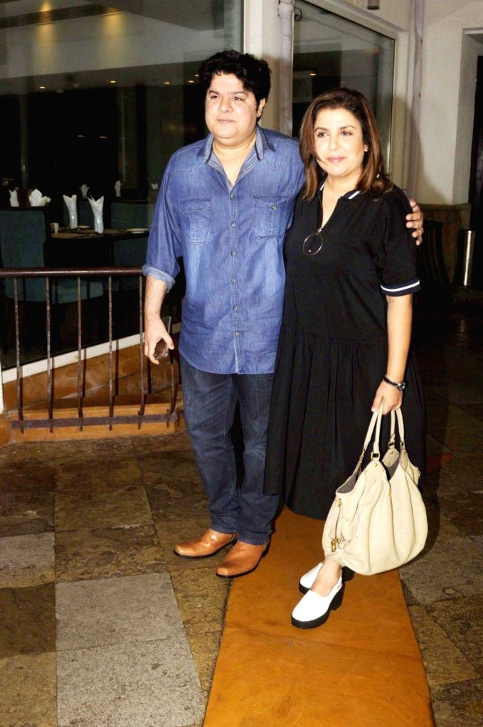 Filmmakers Sajid Khan and Farah Khan during launch of Jeet Gian book, The Three Wise Monkeys, in Mumbai on Sept 19, 2016. - Sajid Khan and Farah Khan