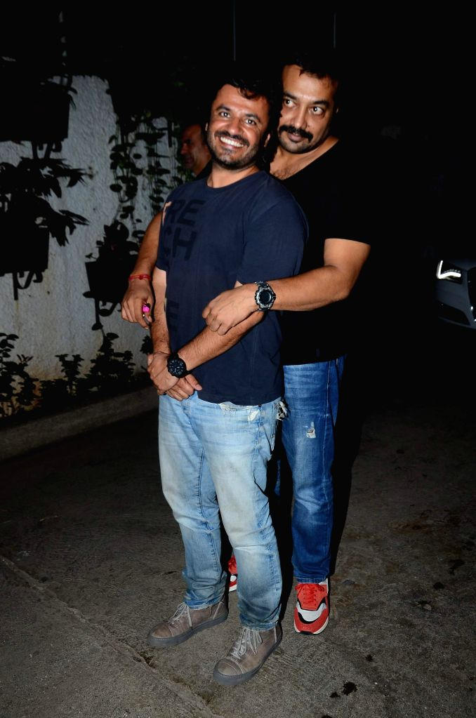 Filmmakers Vikas Bahl and Anurag Kashyap during the special screening of the movie `Bombay Velvet` on Anushka Sharma`s B`day in Mumbai on 1st May, 2015. Film Bombay Velvet is all set to release on ... - Vikas Bahl and Anurag Kashyap