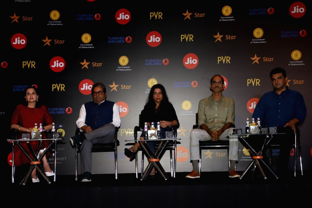 Filmmakers Vishal Bhardwaj, Zoya Akhtar and Siddharth Roy Kapur at a press conference during Jio MAMI 21 Mumbai Film Festival 2019, in Mumbai on Sep 30, 2019. - Vishal Bhardwaj, Zoya Akhtar and Siddharth Roy Kapur