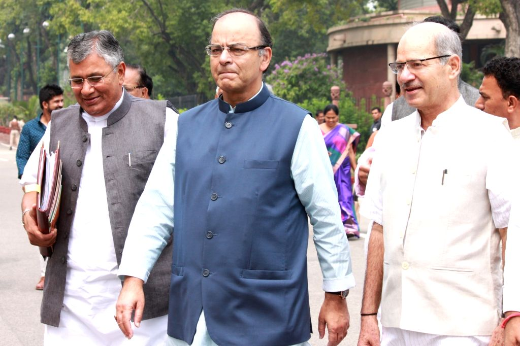Finance Minister Arun Jaitley and other party leaders at BJP Parliamentary Party meeting in Parliament House, on July 26,2016. - Arun Jaitley