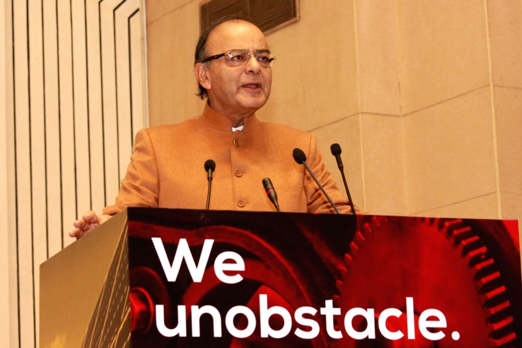 Finance Minister Arun Jaitley speaks during the opening session of launch of ``Start Up India`` in New Delhi on Jan 16, 2016.