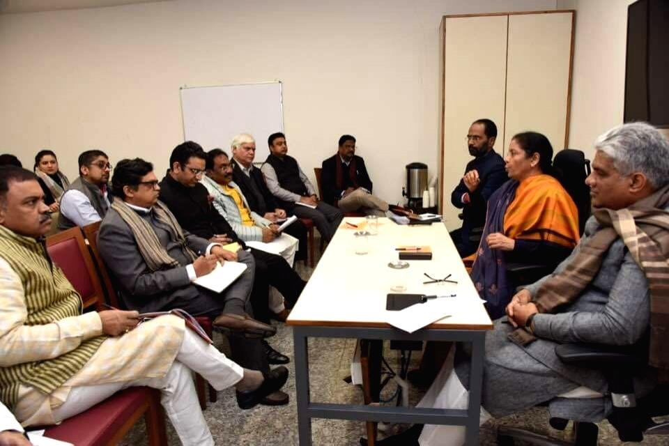 Finance Minister Nirmala Sitharaman presides over a pre-Budget meeting. - Nirmala Sitharaman