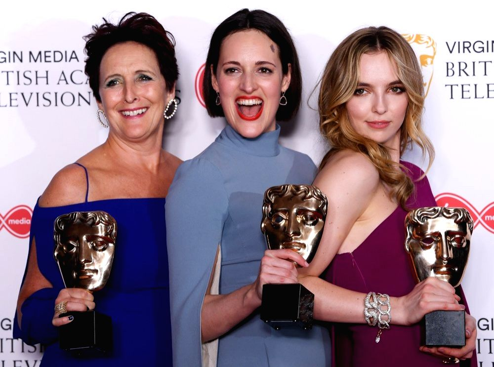 Fiona Shaw, Phoebe Waller-Bridge and Jodie Comer. (Photo: Twitter/@BAFTA)