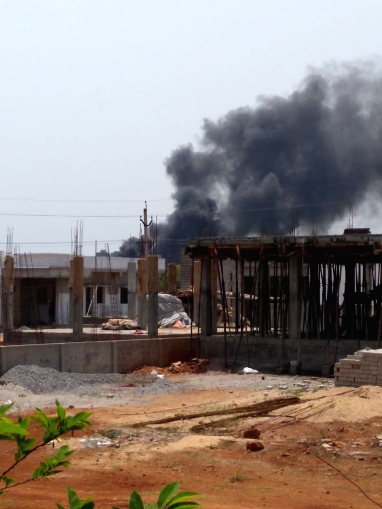 Fire at scrapyard leads to panic in Andhra SEZ.