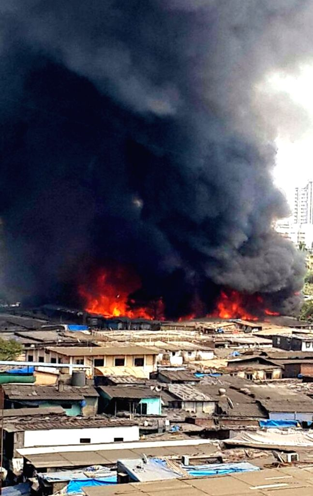 Fire breaks out at a Mumbai furniture market on Nov 25, 2016.