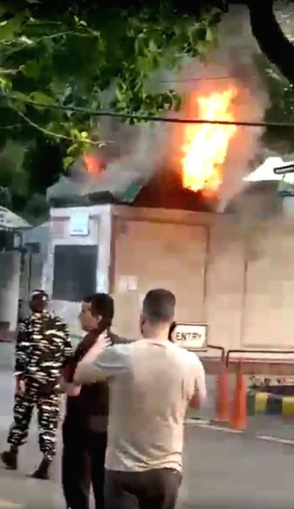 Fire breaks out at book shop near Delhi HC, doused